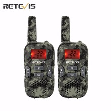 2 pcs Retevis RT33 Walkie Talkie Kids 22 CH 0.5W 462.5625-467.7250Mhz GMRS/FRS Scan VOX CTCSS/DCS Flashlight For Outdoor A9117M