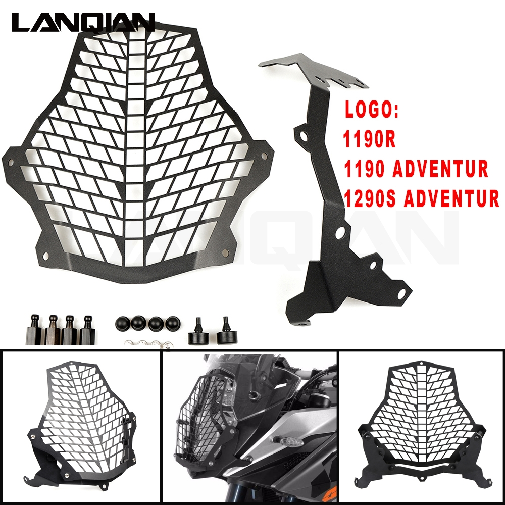 Headlight Head Lamp Light Grille Guard Cover Protector For KTM 1050 1090 1190 Adventure 1290 Super