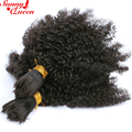 "8A Mongolian Afro Kinky Curly Human Braiding Hair Bulk 3Pcs Afro Kinky Curly Human Hair For Braiding Bulk No Attachment 10""-26"""