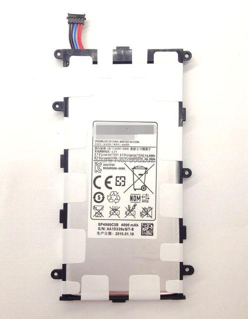Alta qualidade Original SP4960C3B bateria ( 14.8Wh ) 4000 mAh para Samsung Galaxy Tab 2 7.0 P3100 P3110 P6200 7.0 mais frete grátis