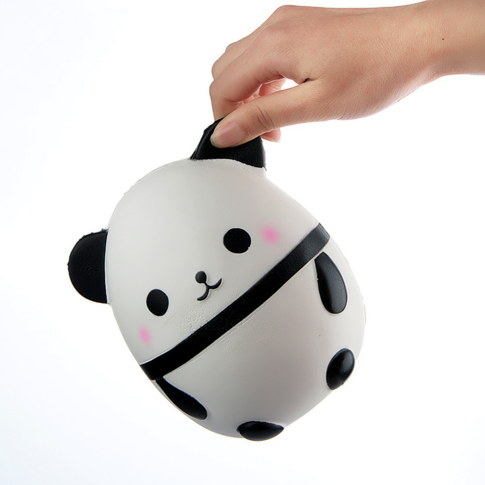Jumbo Squishy Kawaii Panda Bear Egg Candy Soft Slow Rising Stretchy Squeeze Kid Toys Relieve Stress Phone Straps Children Gifts Traveling Collectibles