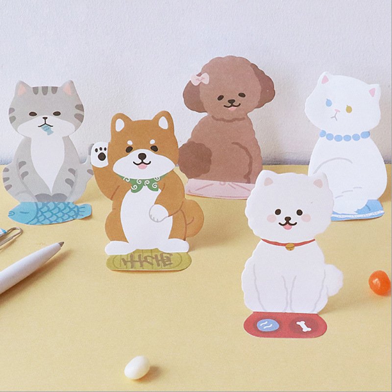Creative cute dog memo pad a leave message paper sticker post sticky notes kawaii school stationery supplies