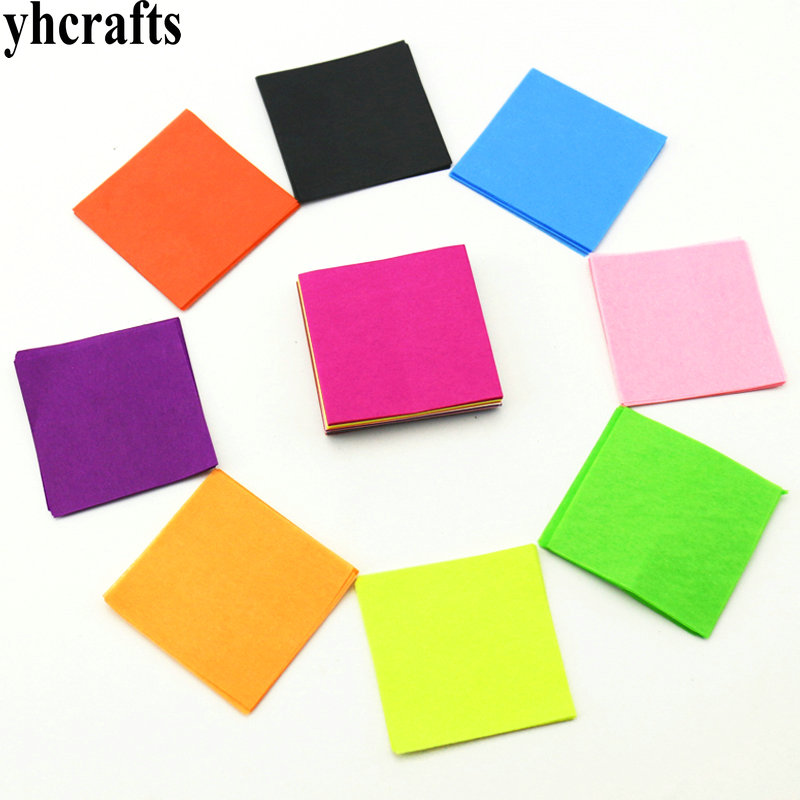 300PCS/LOT.10 Color Tissue Square Craft Material Kids Handwork Kindergarten Crafts Early Learning Educational Toys Cheap Sales