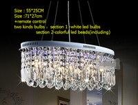 Luster minimalist Oval kristal bırak benzersiz oval yemeği kolye lamba/E14 led 71 cm absorbe kubbe ışık koridor droplight