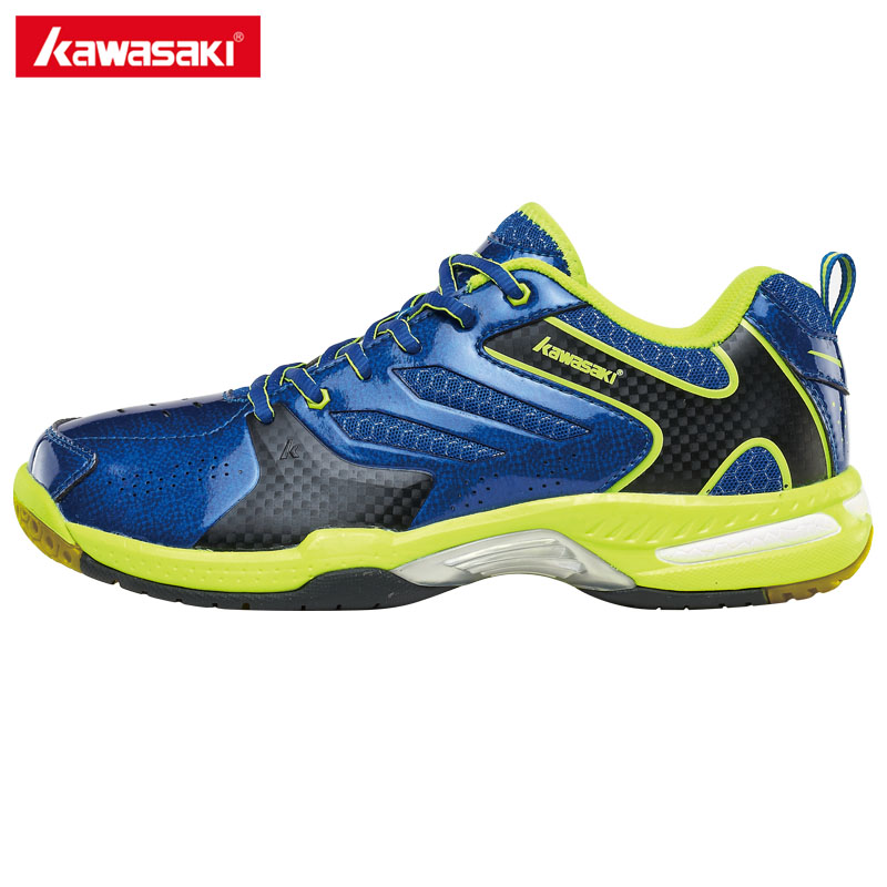 Kawasaki Badminton Shoes for Men Women PVC Floor Incort Tennis Shoes Wear-resistance Sports Sneakers 2017 K-612 613 professional brand kawasaki badminton shoes 2017 sport sneakers for men women anti slippery pvc floor sports shoe k 065 k 066