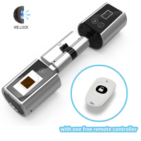 World Smallest Adjustable Smart Euro Cylinder Lock Fingerprint Door Lock Electronic Door Lock Cylinder With Door