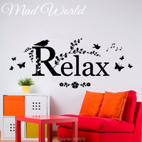 Mad World Bird Relax Bathroom Butterfly Wall Art Sticker Decal Home DIY Decoration Wall Mural Removable