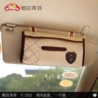 Soft Plush Tissue Box Women Fashion Car Sun Visor Type Hanging Napkin Holder Car Goods Decoration