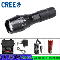 Z50 Cree L2 Flashlight Torch Lamp Self Defense LED Flash Light Powerful Tactical Emergency Defensive Led