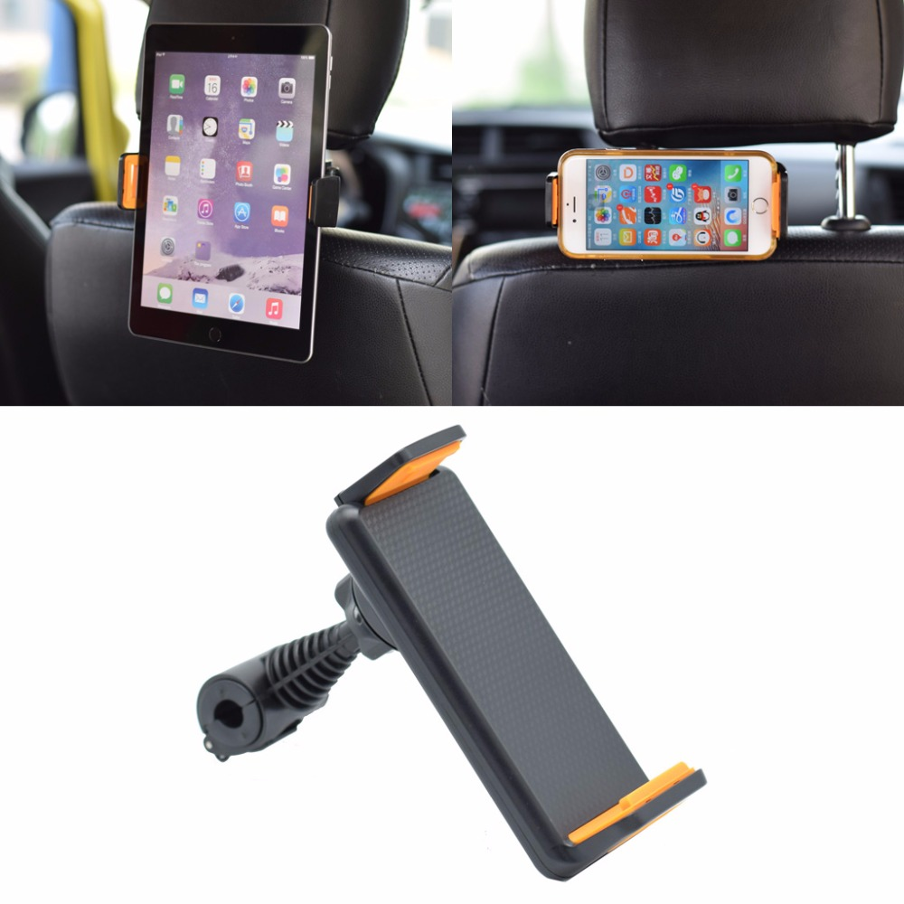 Universal 360 Degree Rotating Car Back Seat Headrest Mount Holder Stand for iPhone ipad GPS For Samsung LG Tablet 4-10 Inch D14 ...