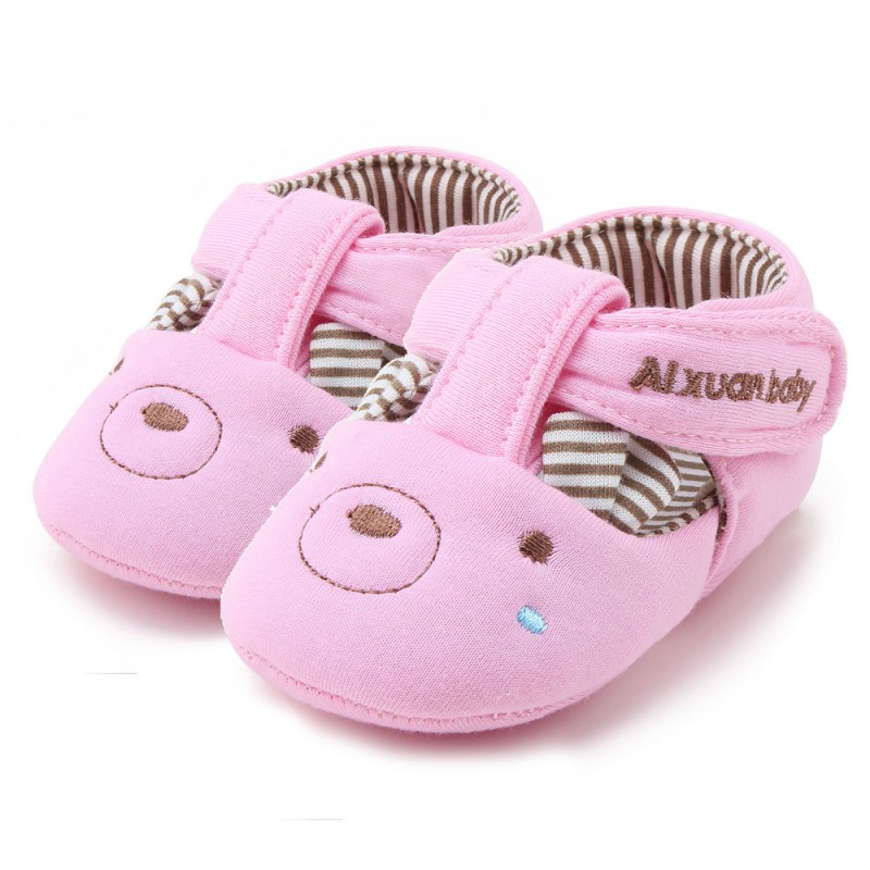 Summer Fashion Newborn Toddler Baby Cute Cartoon Design Crib Soft Soled Prewalker Infant First Walkers Shoes