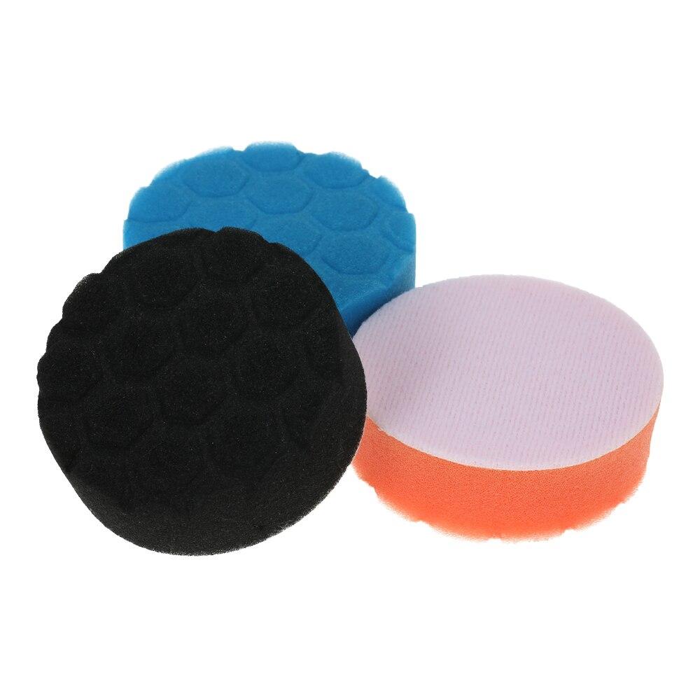 Learned 3pcs Car Polishing Sponge Pads Waxing Buffing Pad Foam Kit Set For Car Polisher Buffer Sander Polishing Waxing Sealing Glaze Carefully Selected Materials