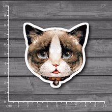 Cute Bell Cat PVC Notebook Decal Stationery Sticker for DIY Macbook Pro / Air 11 13 15 Inch Laptop Cover Partial Sticker[Single](China)