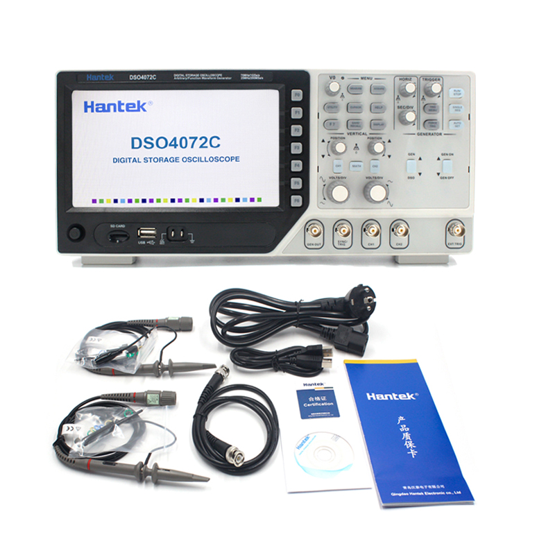 Hantek USB オシロスコープ DSO4072C 2 チャンネル 70 デジタル Osciloscopio ハンドヘルドポータブル Lcd 診断ツール 1GSa/s のサンプルレート  グループ上の ツール からの オシロスコープ の中 1