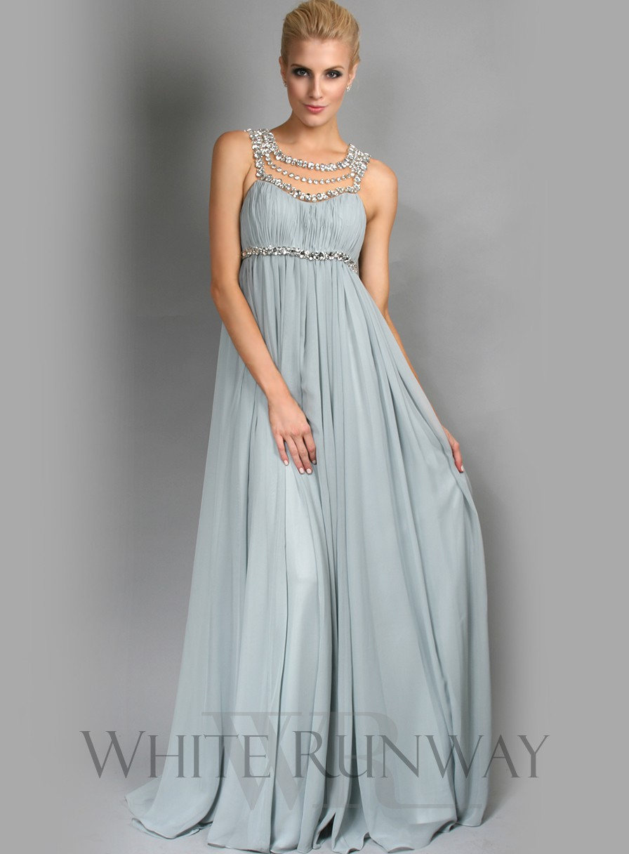 2015 Jennifer Lopez Chiffon Beach Bridesmaid Dresses Scoop Empire ...