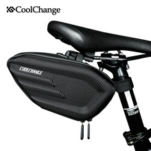 CoolChange Waterproof MTB Bike Rear Bag Bolsa de sillín de bicicleta Reflective Cycling Rear Seat Tail Large Bag Accesorios de bicicleta