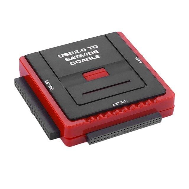 Square Docking Station Base Multi Function USB 2.0 2.5/3.5 Inch SATA IDE HDD CD-Rom HDD Dock Station US Plug