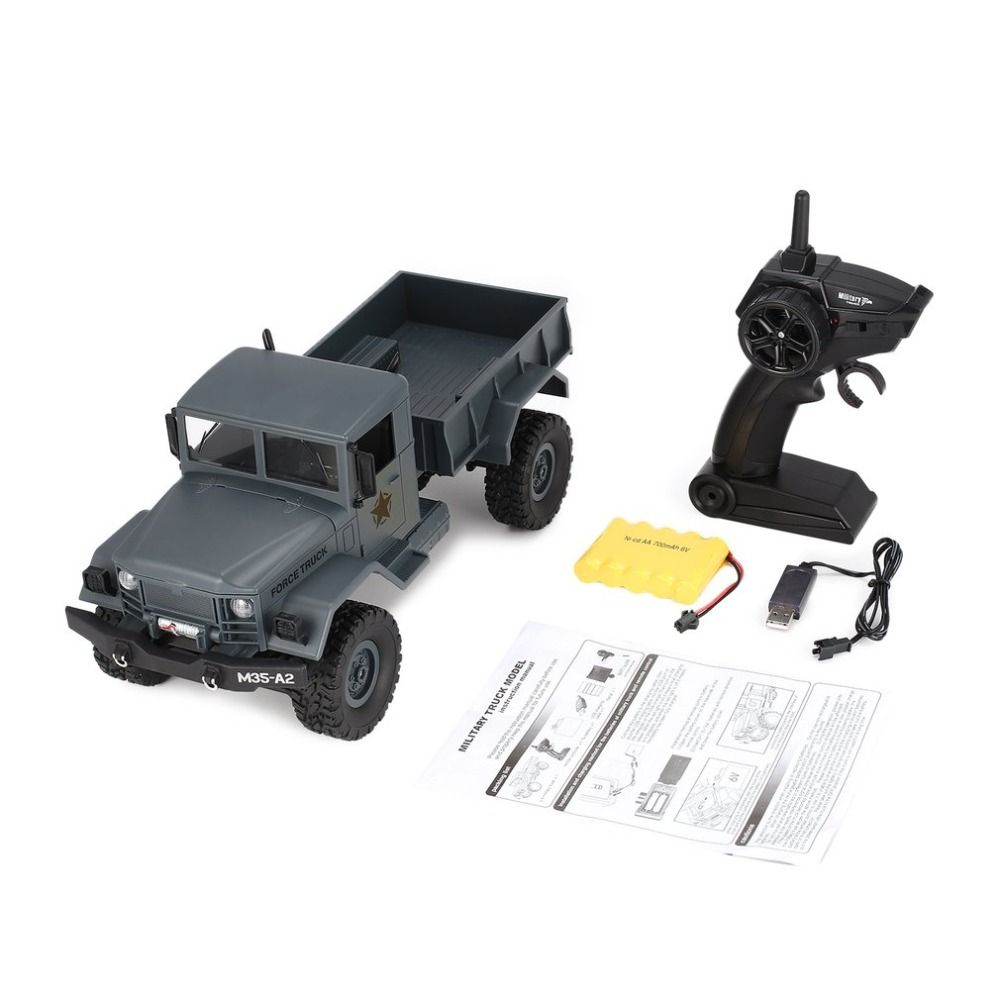 Fy001a/b 2,4 Ghz 1/16 4wd Off-road Rc Military Truck Climber Crawler Rc Auto Fernbedienung Mit Front Licht Für Kinder Spielzeug Geschenk Rc-autos