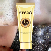 EFERO Blackhead Remover Face Mask Acne Treatment Pore Strip Nose Black Peeling Head Deep Clean Skin Care 60G