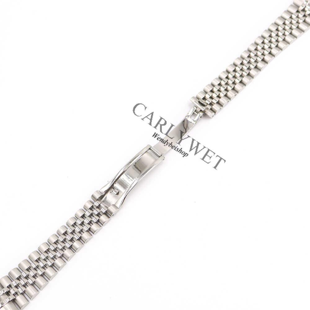 CARLYWET 20 мм оптом 316L нержавеющая сталь юбилейный Серебряный цельнометаллический винт звенья наручные часы ремешок браслет ремень с изогнутым концом