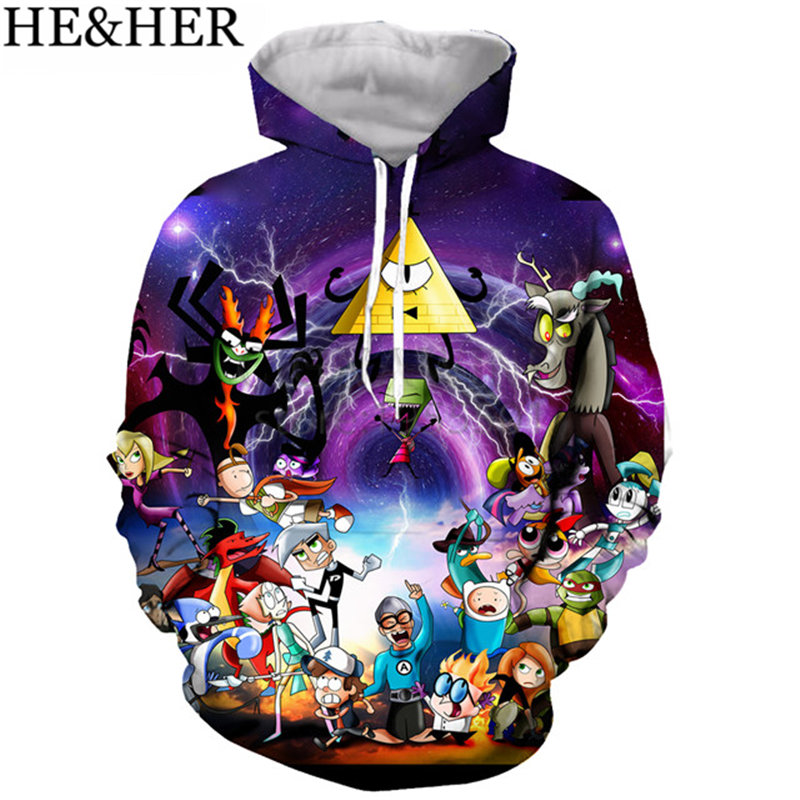 New Arrive Popular Popular Cartoon Gravity Falls Hoodies Men Women Sweatshirts 3D Print Fashion Hip Hop Style Streetwear Tops