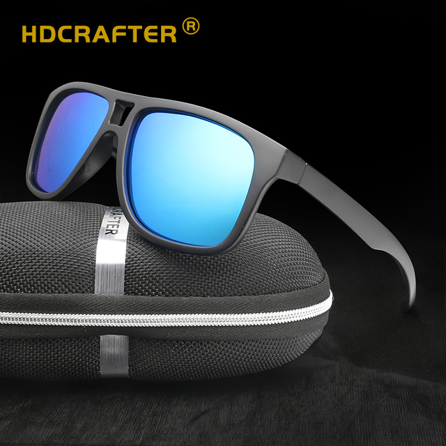 20f14203b1 HDCRAFTER Sunglasses Men Women Polarized 2018 Sport Driver Square Sun Glasses  UV400 Brand Designer Lunettes Zonnenbrillen Mannen