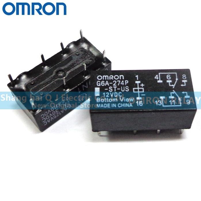 OMRON RELÉ G6A-274P-ST-US 5VDC G6A-274P-ST-US 12VDC G6A-274P-ST-US