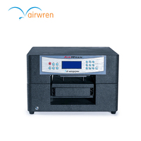 Small 6 Colors Digital Flatbed DTG Fabric Printers With White Ink T Shirt Printer