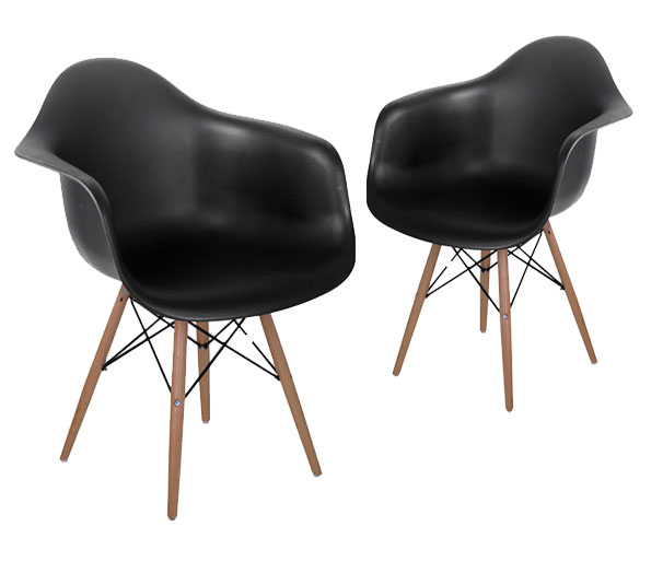 Aliexpress.com : Buy Replica Modern Dining Armchair / Plastic And Wood  Dining Chair/ Modern Dining Chair/Modern Furniture/Replica Furniture 2PCS  SET From ...