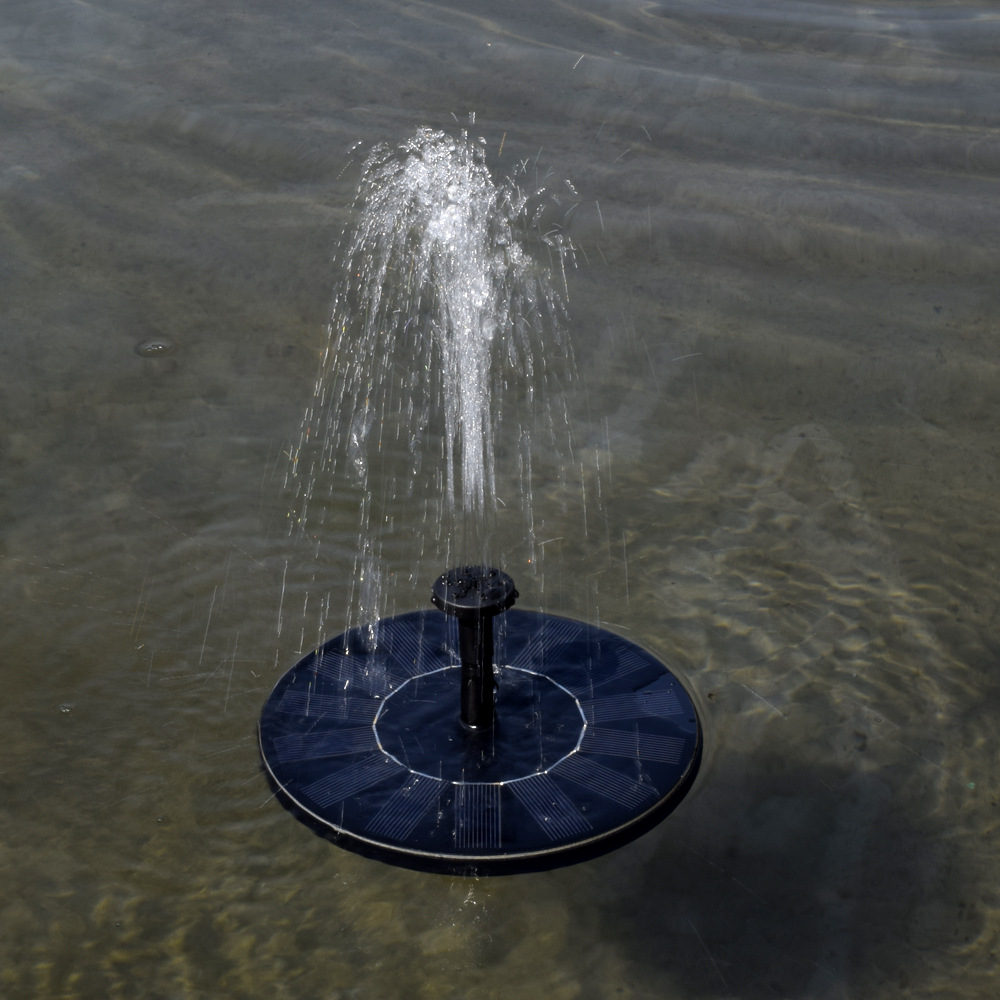 Hot Arrival 7v Floating Water Pump Solar Panel Garden Plants Watering Power Fountain
