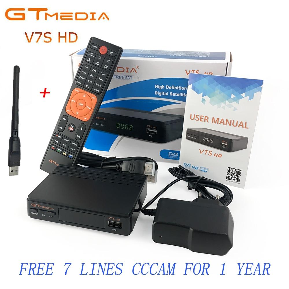 Freesat V7 HD upgrade to GTMEDIA V7S HD Satellite Receiver With Usb WiFi Spport DVB S2