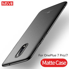 Msvii Luxury For OnePlus 7 Pro Case Ultra Slim Hard Cases One Plus 6T 5T Full Protection Back Cover plus Coque