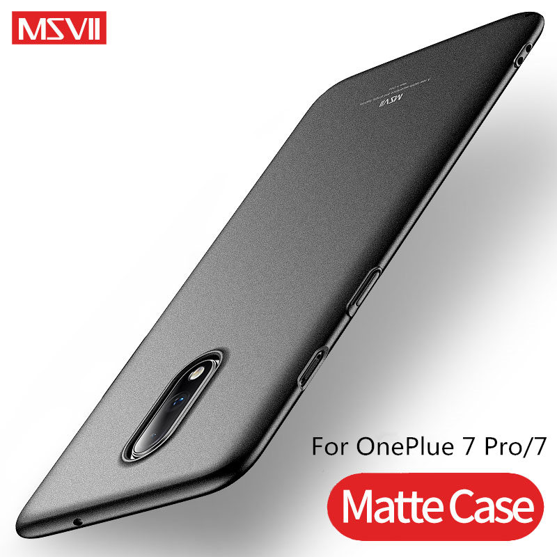 Msvii Luxury For <font><b>OnePlus</b></font> 7 Pro <font><b>Case</b></font> Ultra <font><b>Slim</b></font> Hard <font><b>Cases</b></font> For One Plus 6T <font><b>5T</b></font> Full Protection Back Cover For One plus 7 Coque image