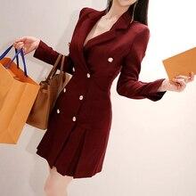 Moda mujer cómodo grueso cálido simple elegante OL abrigo recién llegado elegante prendas de vestir exteriores vintage temperamento tendencia chaqueta