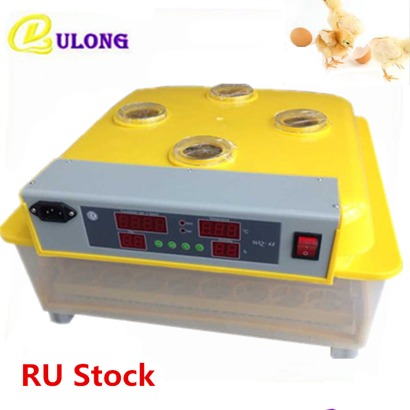 Fully automatic mini home egg incubator machine digital temperature control chicken poultry hatchery hatcher chicken egg incubator hatcher 48 automatic mini parrot egg incubators hatcher hatching machines