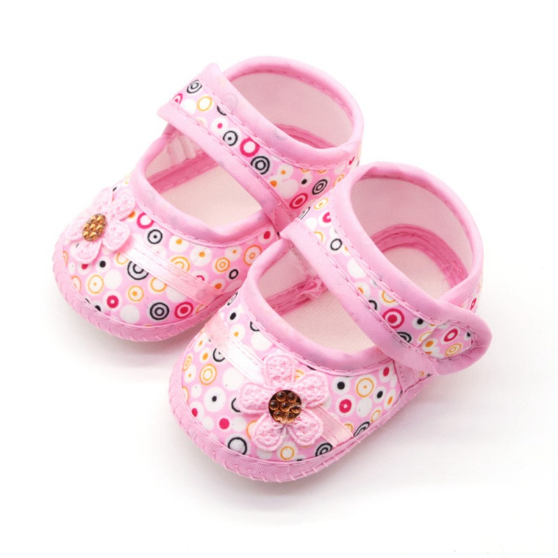 1Pair Baby Girl Breathable Anti-Slip Flower Shoes Casual Sneakers Toddler Soft Soled First Walkers