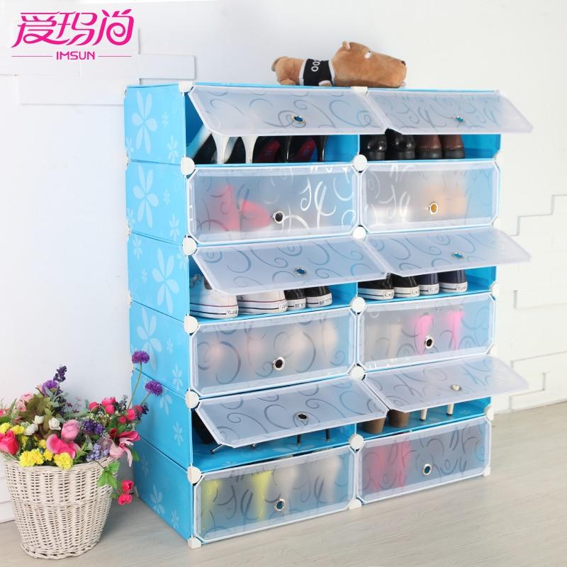 emma masih plastik kapasitas besar debu rak sepatu ikea sederhana rumah modular penyimpanan. Black Bedroom Furniture Sets. Home Design Ideas