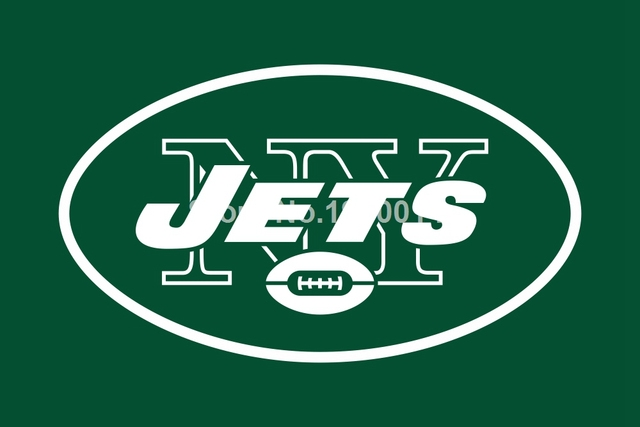 new york jets logo flag 3ft x 5ft polyester nfl new york jets banner flying size no 4 144 96cm custom flag in flags banners accessories from home