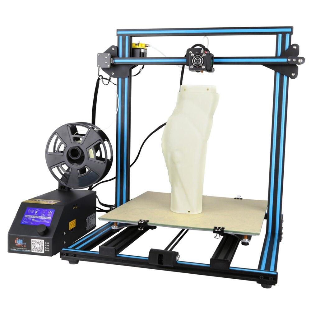 Expédition de NOUS Creality CR-10 S4 grande taille d'impression BRICOLAGE bureau 3D imprimante 400*400*400mm impression taille avec lit chauffé