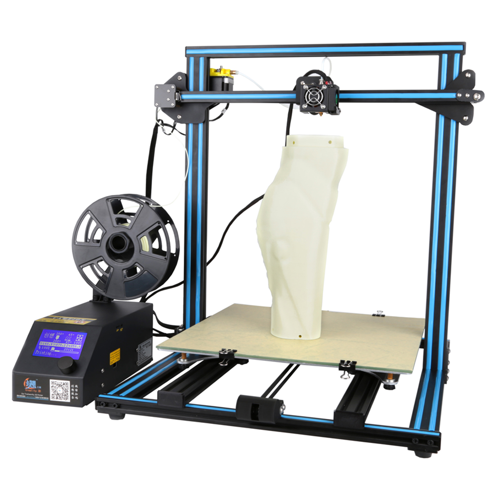 Shipping from US Creality CR-10 S4  large printing size DIY desktop 3D printer 400*400*400 mm printing size  with heated bed metal frame linear guide rail for xzy axix high quality precision prusa i3 plus creality 3d cr 10 400 400 3d printer diy kit