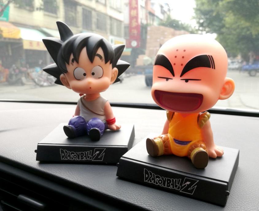 1 pcs engraçado bonito do Anime Dragon Ball Z Goku Kuririn Bonecos Bobble Cabeça Figura PVC Modelo Brinquedos Decoração Do Carro suporte do telefone