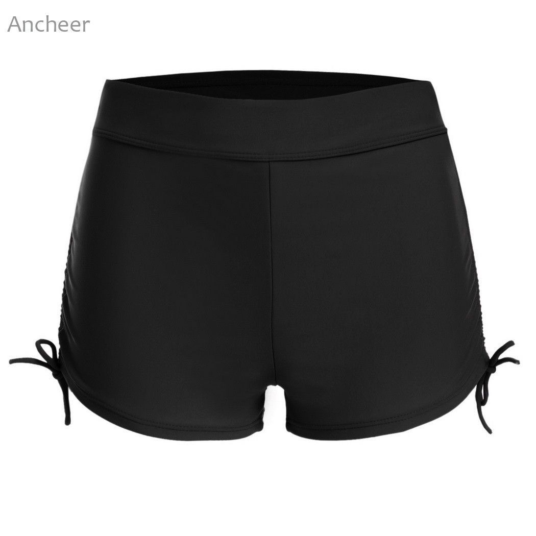 2018 Summer Brand New Women Swimming pants Swim Boyshorts <font><b>sexy</b></font> Solid Swim Boyshorts Bikini Bottom with Adjustable Ties swimwear image