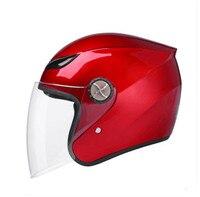 RED Xe Máy Mũ Bảo Hiểm Nửa Mở Mặt Tùy Chỉnh Kích Cỡ Bảo Vệ Đầu Bánh Mũ Bảo Hiểm Unisex Đen Red Mới Nhất mô hình mũ bảo hiểm