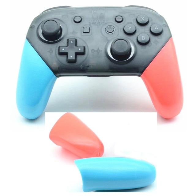 כחול אדום Nintend מתג פרו בקר אנטי להחליק אחיזת נקודת פגז החלפת ידיות כיסוי עבור NS NintendoSwitch פרו אבזרים