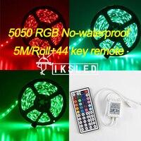 5m Roll No Waterproof Led Strip Light 5050 Smd 300led 5M RGB Led Rope 44key IR