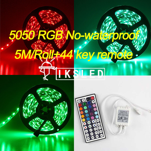 5mroll no waterproof led strip light 5050 smd 300led 5m rgb led 5mroll no waterproof led strip light 5050 smd 300led 5m rgb led rope 44key ir remote controller free shipping in led strips from lights lighting on aloadofball Gallery