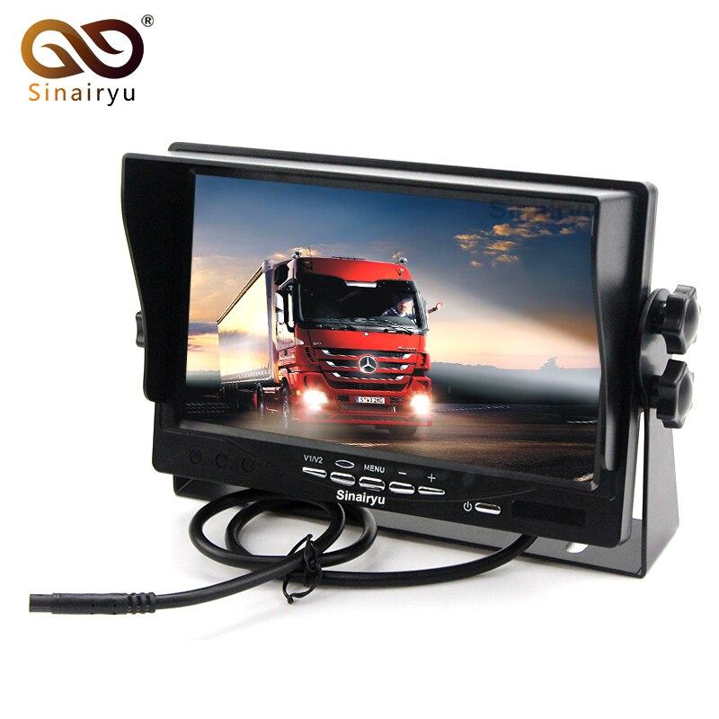 Sinairyu T705 10PCS Lot HD Digital Screen 800 480 7 TFT LCD Car Parking Monitor Iron