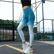 Energy Seamless Leggings High Waist Yoga Pants Workout Gym Leggings Scrunch Butt leggings Gradient Sport Yoga Leggings