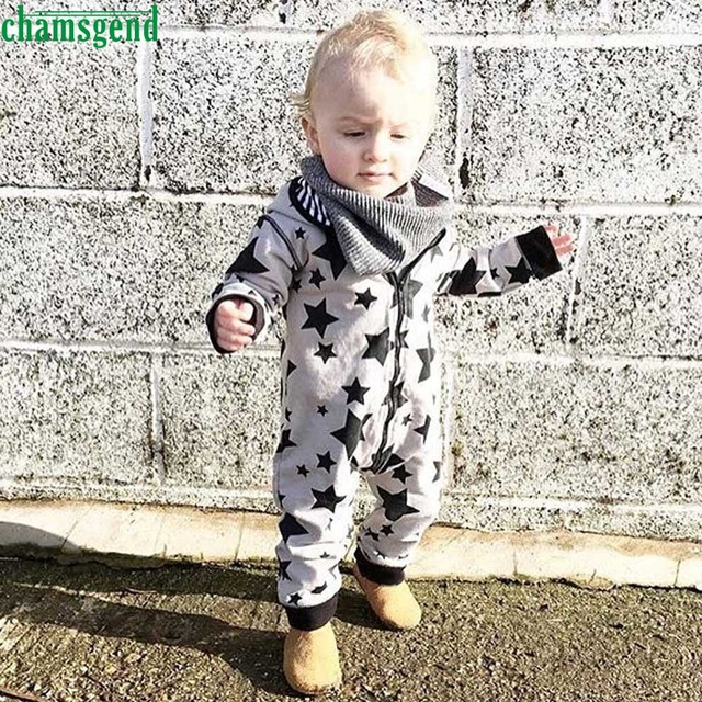 a7ba2e451887 CHAMSGEND Gray Infant Newborn Baby Boy Girl Kids Zipper Full Printing Hooded  Romper Jumpsuit Clothes Outfit jul21 P30. Rated 3.0/5 based on ...