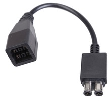 1Pc 25.5cm Black AC Power Supply Cable Converter Adapter For Microsoft Xbox 360 To Xbox 360 Slim Game Cable
